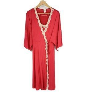 Hanro Nightgown Set Chemise Robe 2 Piece
